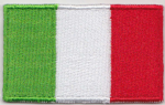 Italy Embroidered Flag Patch, style 04.